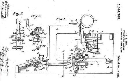 Royal Grand Typewriter Patent