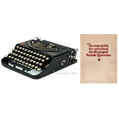Remington No.1 Portable Typewriter Instruction Manual