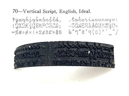 Vertical Script TYPE SHUTTLE for Hammond Typewriter