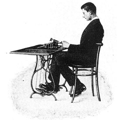 Edelmann Typewriter Modified for the Dis
