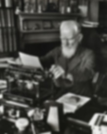 George Bernard Shaw with Smith Premier Typewriter