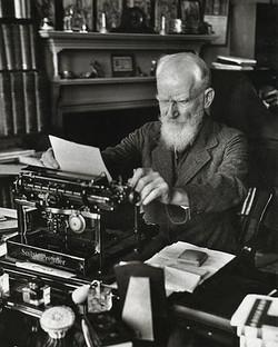 Writer George Bernard Shaw
