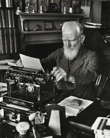 George Bernard Shaw with Smith Premier Typewriter