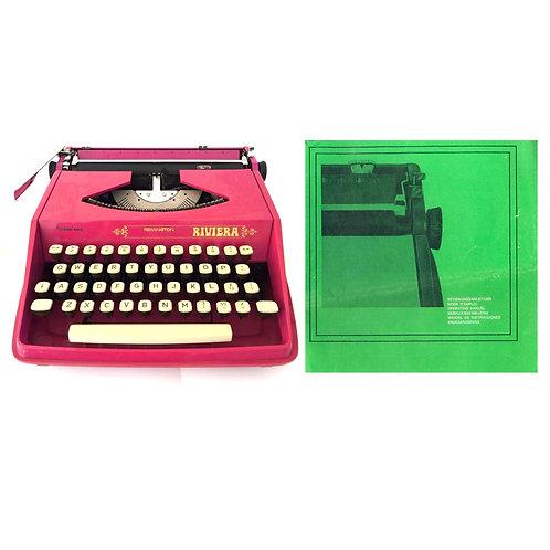 Remington Riviera Typewriter Instruction Manual