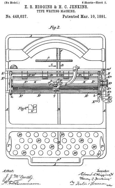 Waverley Typewriter Patent