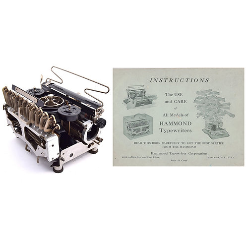 Hammond Folding Multiplex  Typewriter Instruction Manual