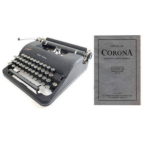 Smith Corona Clipper Typewriter Instruction Manual