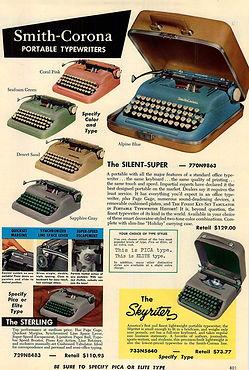 Smith Corona 5 Series Typewriter Ad 1956