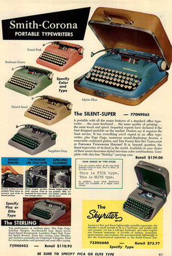 Smith Corona 5 Series Typewriter Ad 1956