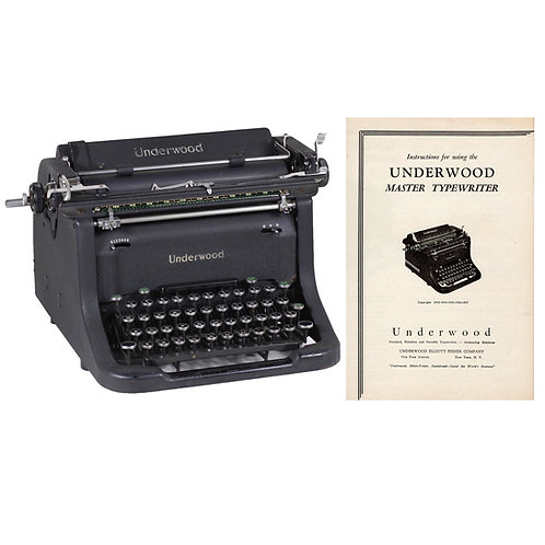 Underwood Master Typewriter Instruction Manual