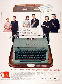 Remington Quiet Riter Typewriter Ad 1957