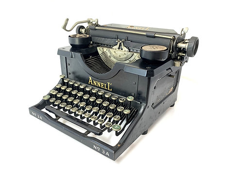 RARE Antique 1922 ANNELL TYPEWRITER Earliest Known Example