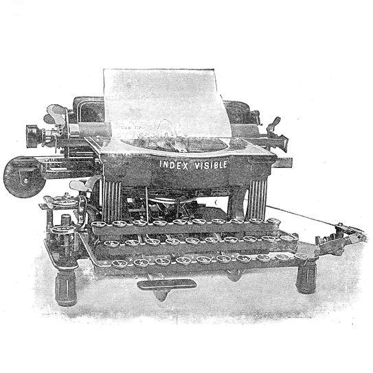 Index Visible Typewriter