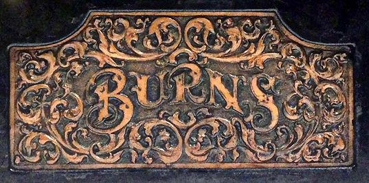 Burns Typewriter Copper Relief