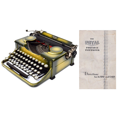 Royal Model P Typewriter w/Gullwing Ribbon Covers Instruction Manual