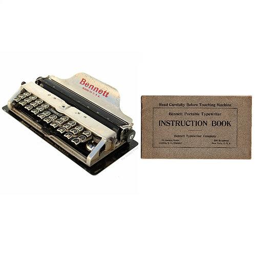 Bennett Typewriter Instruction Manual