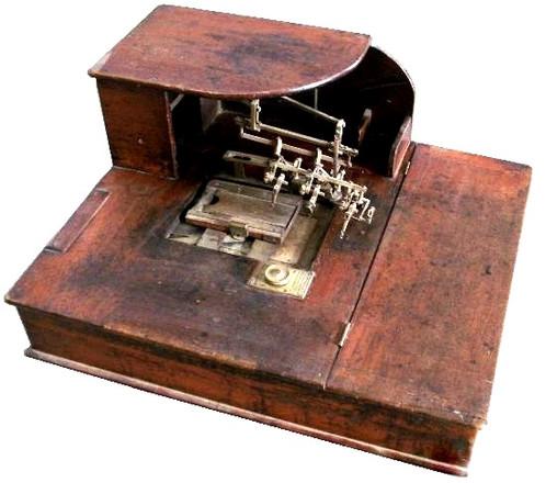 Ponting's Patent Booking Machine