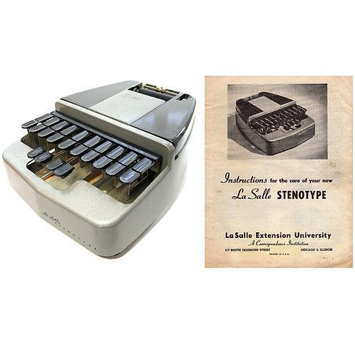 La Salle Stenotype Steograph Machine Instruction Manual