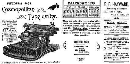 Cosmopolitan Typewriter Blotter