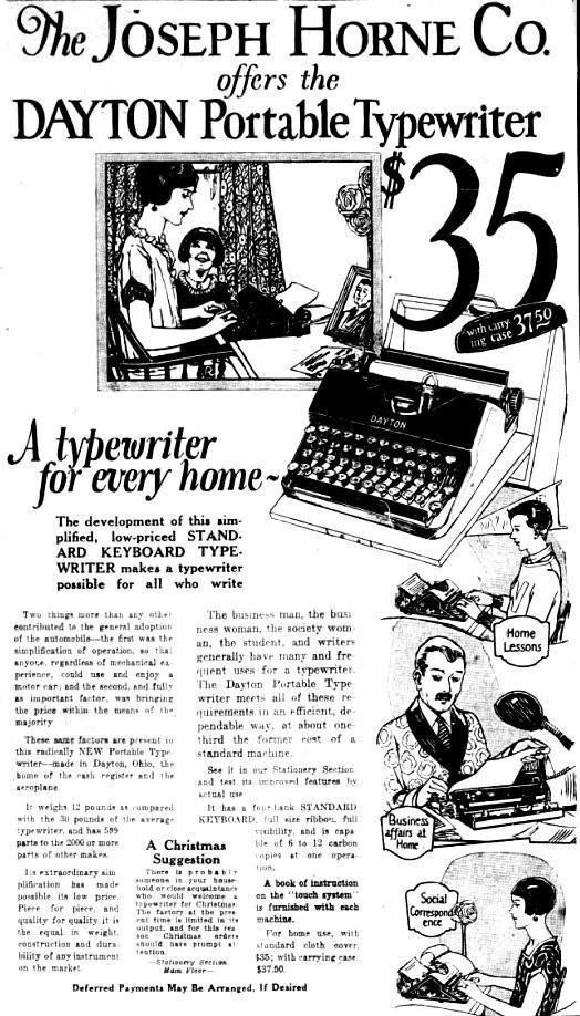 Dayton Typewriter Advertisement