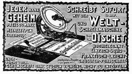 Diskret Typewriter Ad