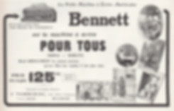 French Bennett Typewriter Ad