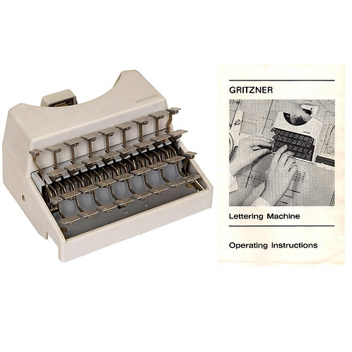 Gritzner Letter Writing Machine Typewriter Instruction Manual