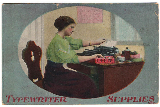 Commercial Visible Typewriter Postcard