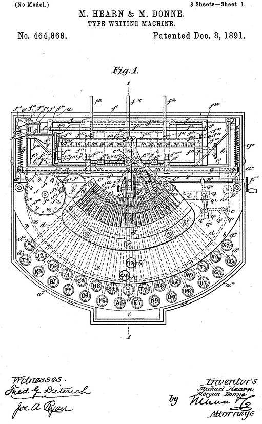 The English Typewriter Patent