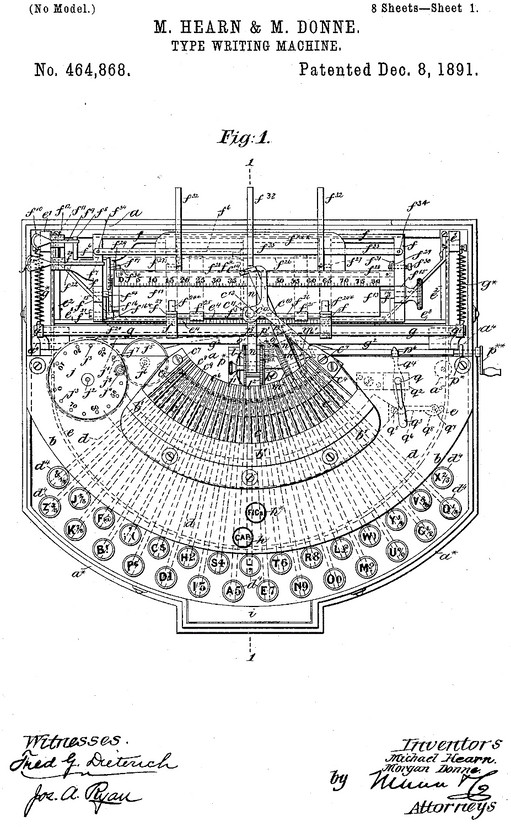 The English Typewriter Patent