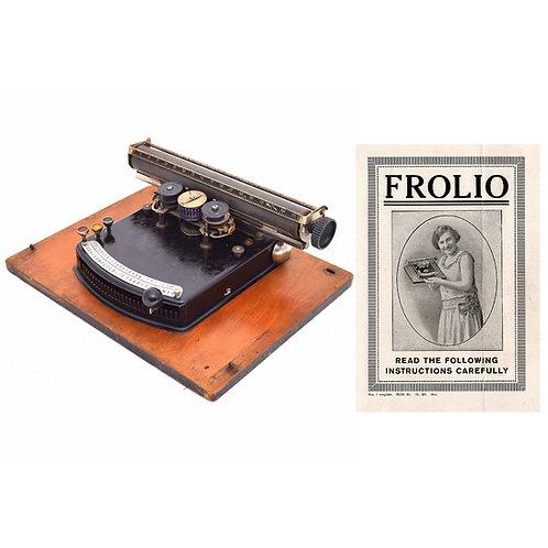 Frolio Typewriter Instruction Manual