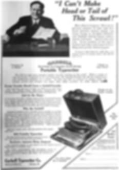 Garbell Portable No.3 Typewriter Ad