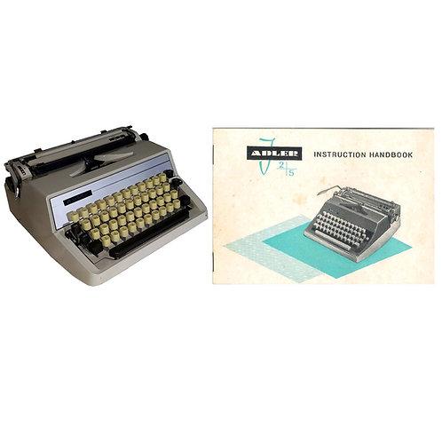 Adler J2 Typewriter Instruction Manual
