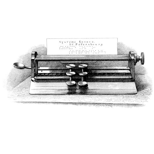 Kovako Tiphlotype Stigmatype Braille Typewriter
