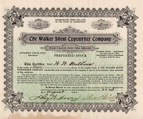 The Walker Silent Typewriter