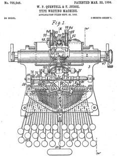 Postal Typewriter Patent