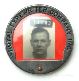 Royal Typewriter Factory Employee ID Badge