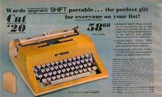 Montgomery Ward Escort 55 Typewriter Ad 1974