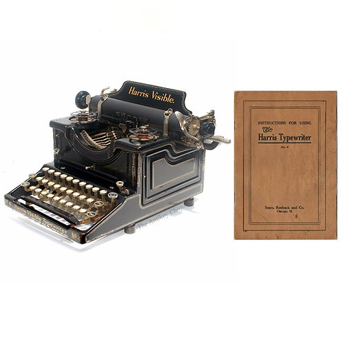 Harris No.4 Typewriter Instruction Manual