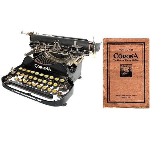 Corona No.3 Typewriter (1922 - 1941) Instruction Manual