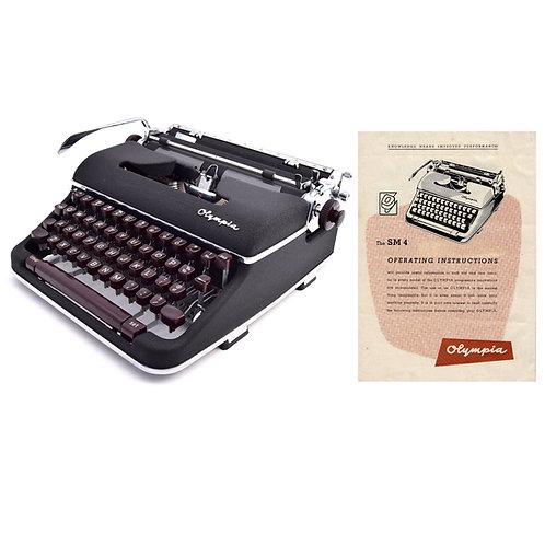 Olympia SM4 Typewriter Instruction Manual