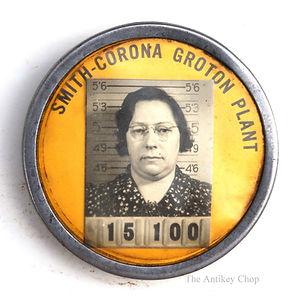 Corona Typewriter Factory Employee ID Badge