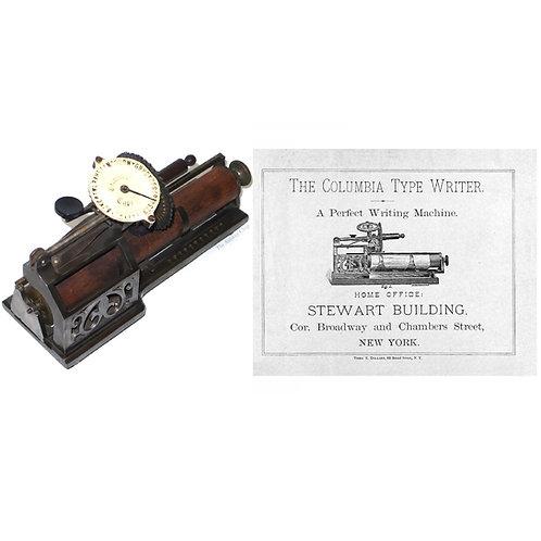 Columbia No.2 Typewriter Instruction Manual