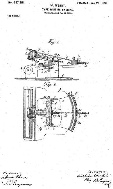 Edelmann Typewriter Patent