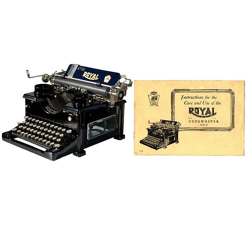 Royal Standard No.10 Typewriter 2nd Generation Instruction Manual