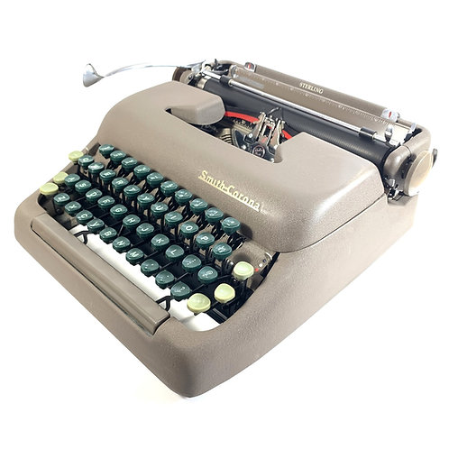 Restored Smith Corona Sterling Portable Typewriter