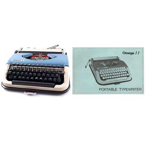 Omega II Typewriter Instruction Manual