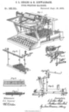 Sholes & Glidden Patent