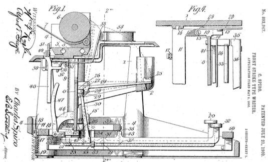 Visigraph Typewriter Patent