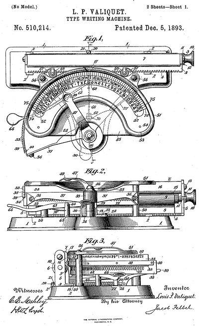 American Typewriter Patent